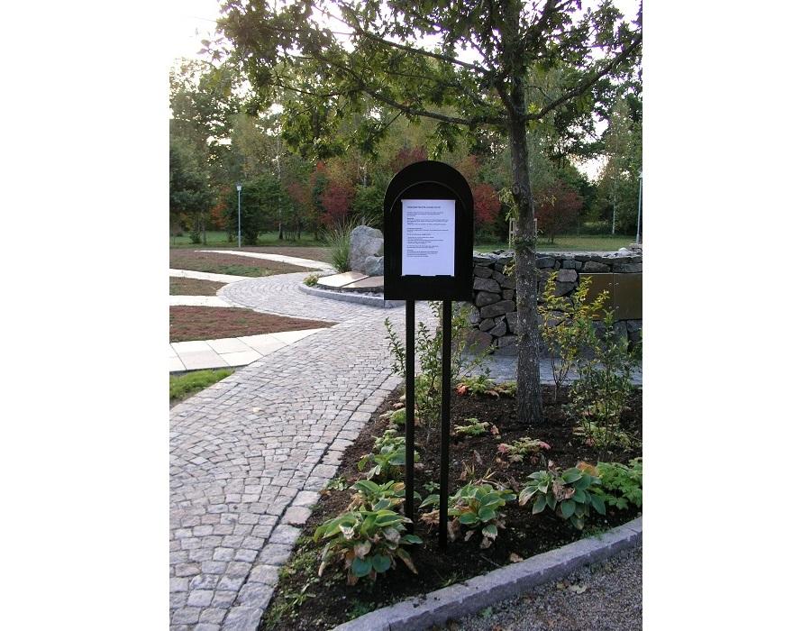 informationstavla till kyrkogårdar